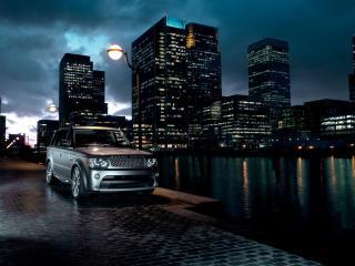 обои Range Rover Sport Supercharged 2010 серебро фото