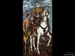обои El Greco - St. Martin and the Beggar фото