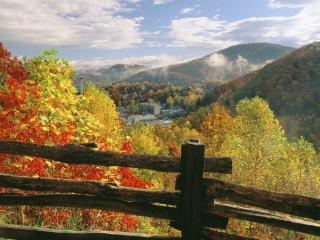 обои Теннесси, осень в Гатлинбурге фото