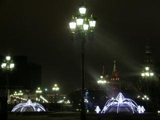 обои Фонари ночной Москвы фото