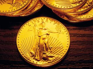 обои Золотые монетки liberty фото
