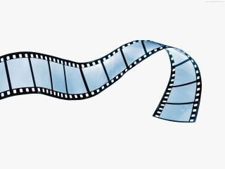 обои Голубая Кинолента на белом фоне фото