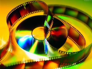 обои Кинолента и компакт-диск фото