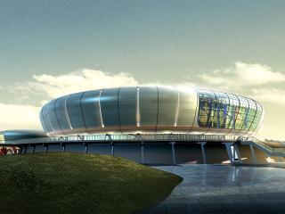 обои Архитектурный эскиз водного стадиона фото