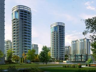 обои Архитектурный эскиз нового жилого комплекса фото