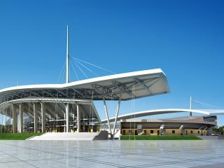 обои Архитектурный эскиз китайского стадиона фото