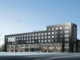 обои Архитектурный эскиз черного коммерческого центра фото