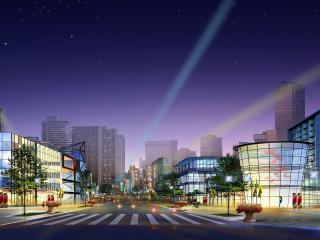 обои Архитектурный эскиз китайского квартала фото