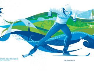 обои Vancouver 2010 Cross Country Skiing фото