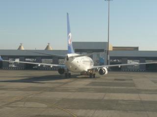 обои Самолет на посадку в аэропорту фото