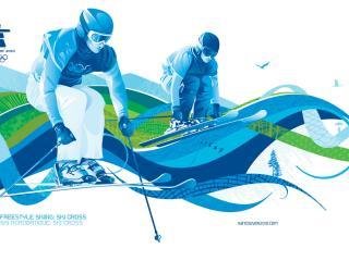 обои Vancouver 2010 Olympic Skiing фото