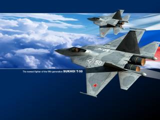 обои Новая гордость России Су Т-50 фото