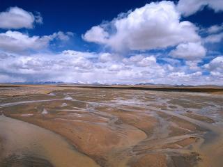 обои Пумокрый песок в пустыне фото