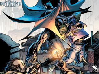 обои Detective Comics борьба фото