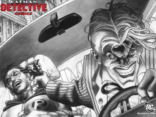 обои Detective Comics погоня фото