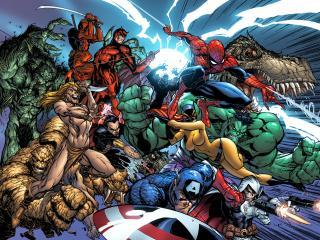 обои Marvel Comics все герои фото