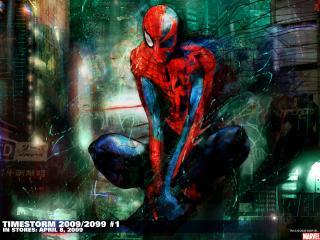 обои Spider-Man потрепанный фото