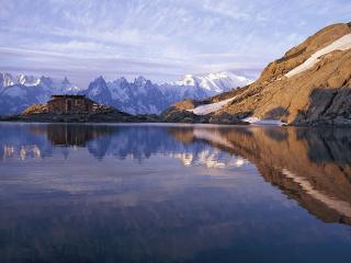 обои Горное озеро, Франция фото