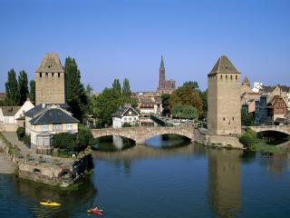 обои Небольшой мост, Франция фото