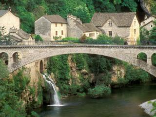 обои Маленький водопадик, Франция фото