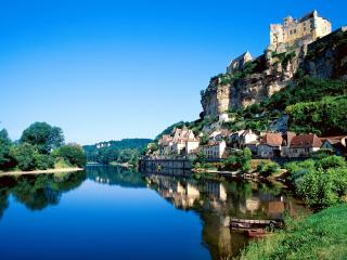 обои Великолепный пейзаж старого замка, Франция фото