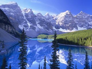 обои Великолепный горный пейзаж, Канада фото
