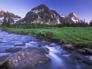 обои Горная река, Канада фото