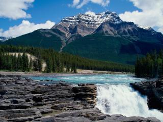 обои Водопад в горах, Канада фото