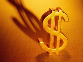 обои Золотой слиток в форме доллара фото
