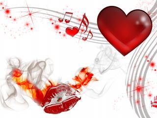обои Музыкальный поцелуй фото