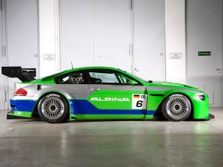 обои BMW Alpina B6 GT3 Race Car 2009 бок фото