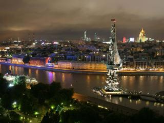 обои Огни ночного города фото