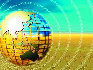 обои для рабочего стола: информационное излучение Земли