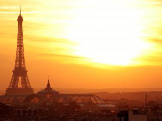обои Париж на рассвете фото