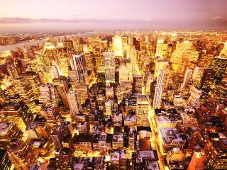 обои Мегаполис с высоты птичьего полета фото