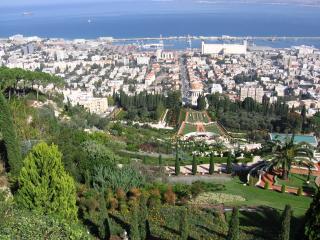 обои Израиль, Хайфа. внизу город фото