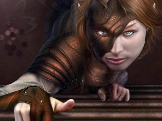 обои Девушка-эльф с зелеными глазами фото
