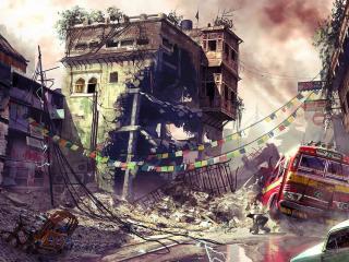 обои Последствия землетрясения фото