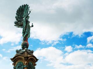 обои Статуя ангела фото