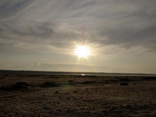 обои Закат солнца на горизонте фото