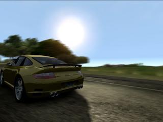 обои Sun Porsche фото