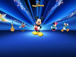 обои Disney Blue Theme фото