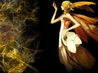 обои Девушка-эльф с крыльями фото