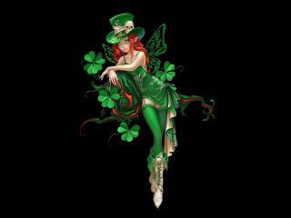обои Эльф в зеленом фото