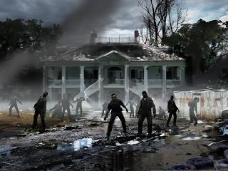 обои Left4Dead 2 Зомби возле дома фото