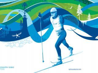 обои Ванкувер.Параолимпиада.Бег на лыжах фото