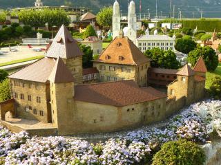 обои Швейцария, большое поместье в Лугано фото