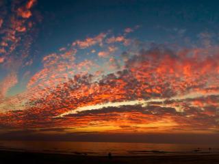 обои Облака на закате фото