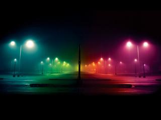 обои Разноцветные фонари фото