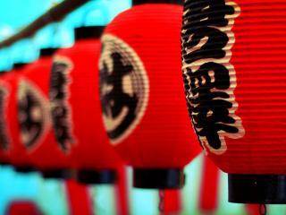 обои Китайские фонарики фото